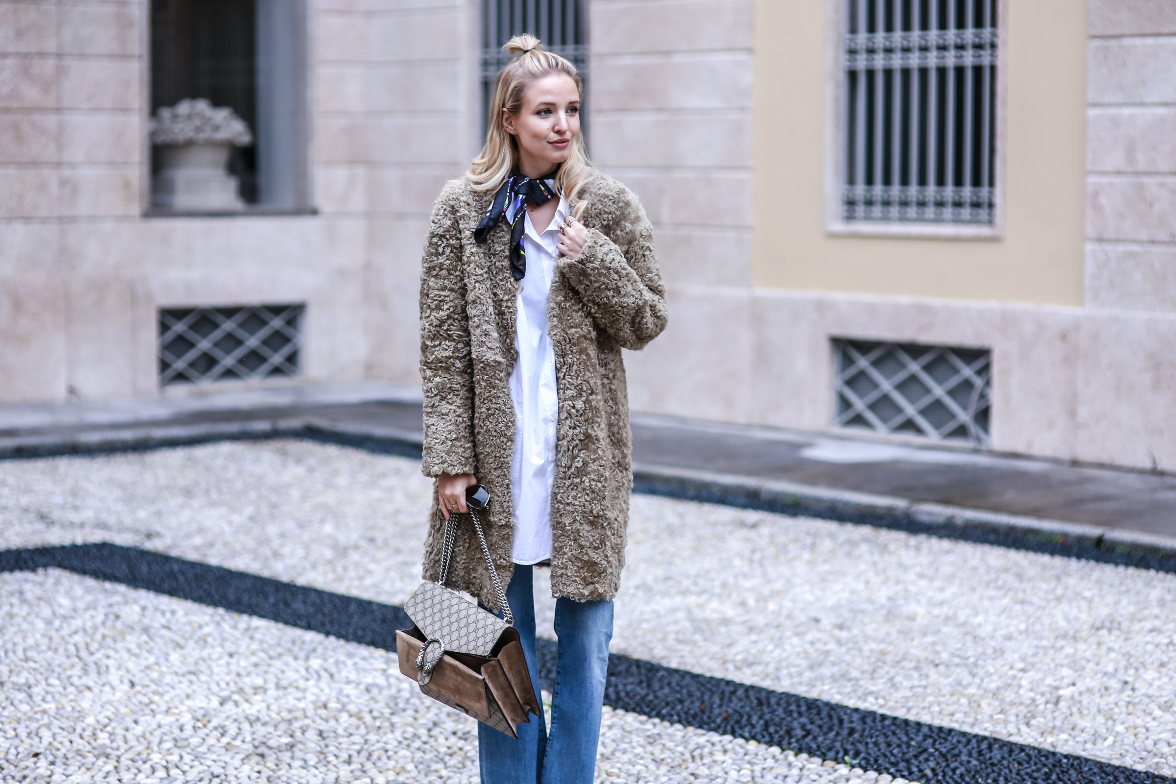 Denim & Teddy coat | Milan