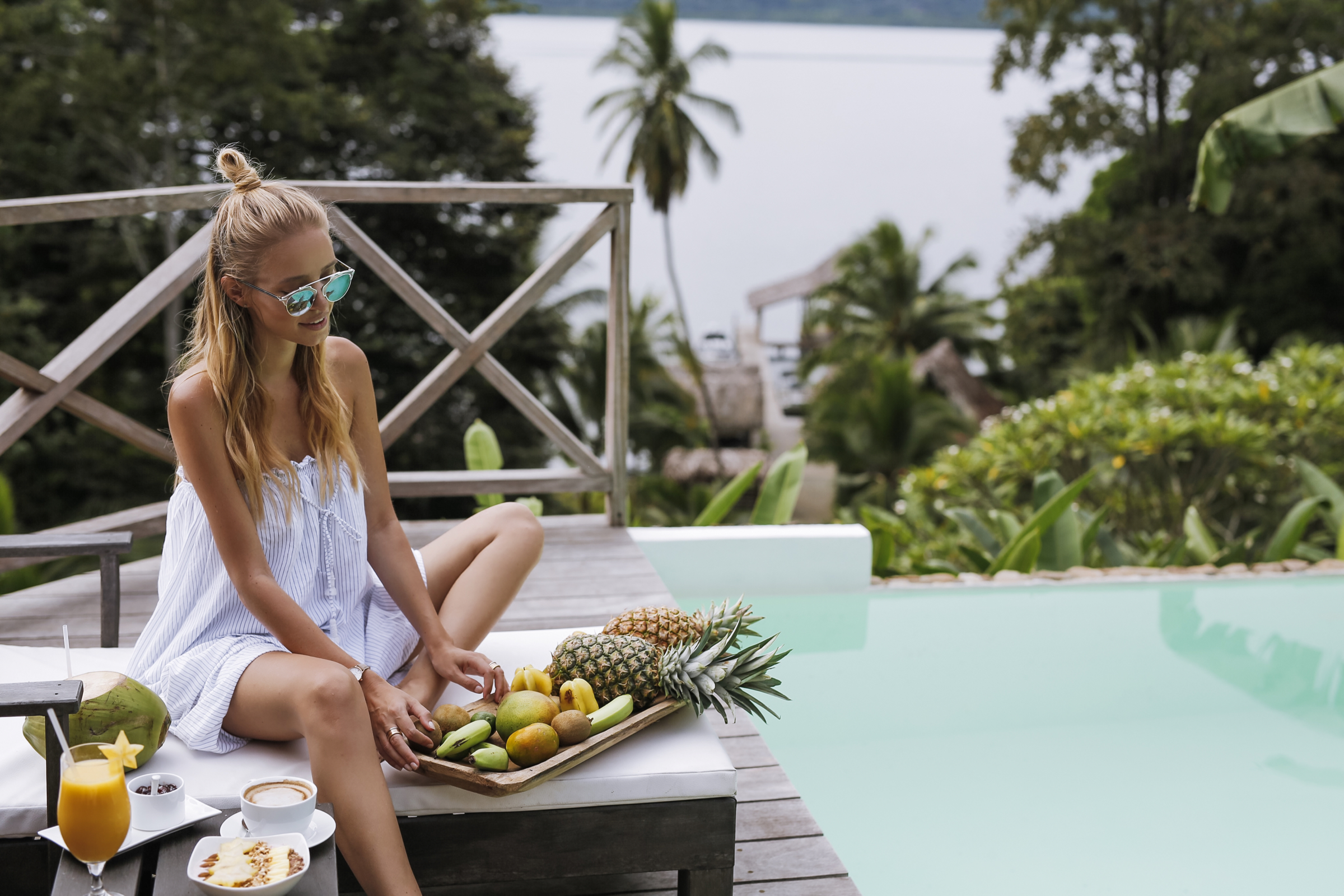 Breakfast by the pool | Bocas del Toro