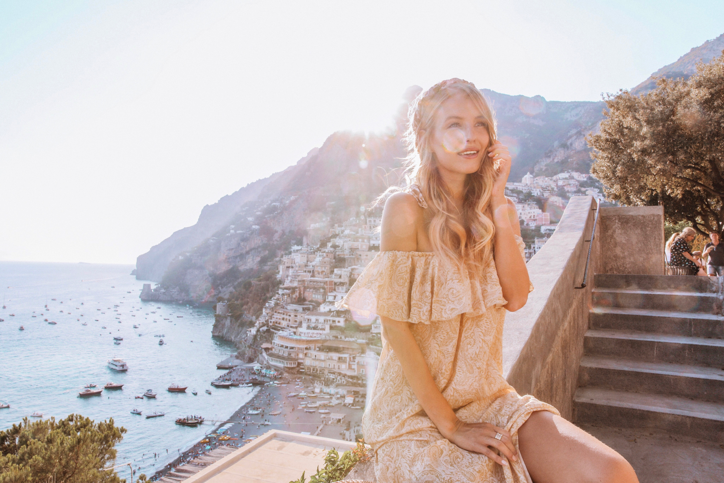 Limonchello-colored dress | Positano