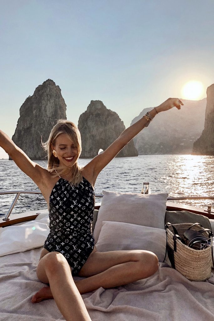 Louis Vuitton Swimsuit in Italy