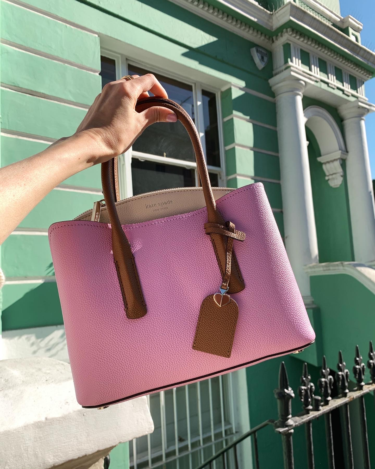 Purple Kate Spade Bag